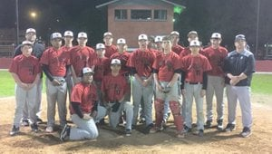 RICK PECK/SPECIAL TO MCDONALD COUNTY PRESS The McDonald County eighth-grade baseball team outscored its three opponents, 42-6, to win last week's Grove Junior High Baseball Tournament.
