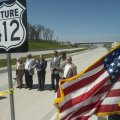 Guests gather Wednesday during a ribbon cutting for the first section of the future U.S. 412 Springd...