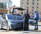 Tesla Model X involved in collision in downtown Little Rock
