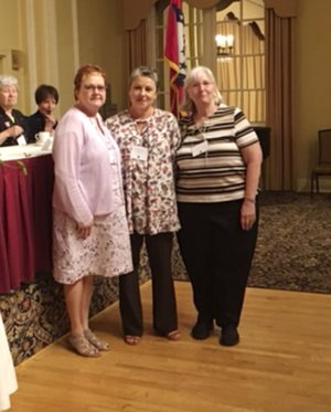 A group from the Garden Club of Rogers attended the Arkansas Federation of Garden Clubs State Convention in Hot Springs recently. Those attending were Marge Leonard, club president; Ronna Precure, State Awards chairman from Garden Club of Rogers; and Phyllis Stair and Debbie Main, club members. Also from the Garden Club of Rogers were Sue Mank, state historian; and Burnie Ott; northwest regional director. The Garden Club of Rogers accepted many awards for various projects. Debbie Main received The Lifetime Achievement Award for her service to the Garden Club of Rogers. Pictured are AFGC State President Derenda Stanley (from left), Main, and Regional Director Burnie Ott.
