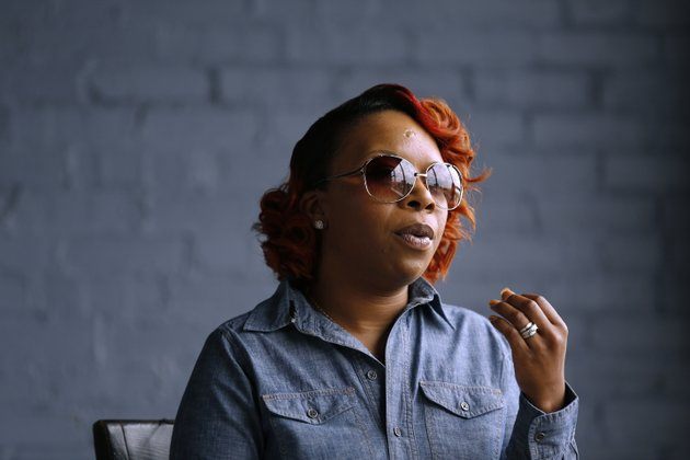 in-this-april-27-2016-file-photo-lezley-mcspadden-mother-of-michael-brown-speaks-during-an-interview-in-st-louis-brown-was-an-unarmed-black-18-year-old-when-he-was-fatally-shot-by-a-white-police-officer-in-ferguson-mo-the-officer-was-not-charged-browns-death-touched-off-widespread-protests-and-a-national-discussion-about-race-relations-and-police-mcspadden-is-to-be-at-harvard-university-monday-april-23-2018-for-a-panel-titled-the-movement-for-black-lives-justice-for-michael-brown-4-years-later-ap-photojeff-roberson-file