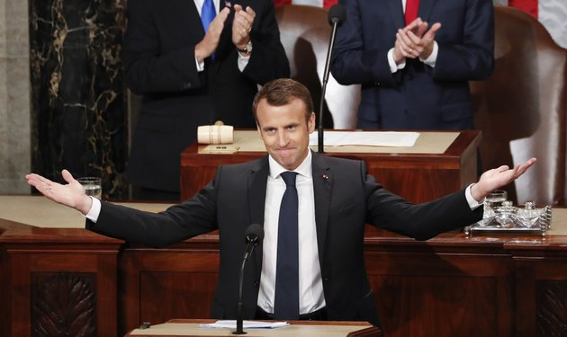 french-president-emmanuel-macron-gestures-as-he-is-introduced-before-speaking-to-a-joint-meeting-of-congress-on-capitol-hill-in-washington-wednesday-april-25-2018