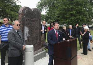 Lawsuits seek removal of Ten Commandments display at Arkansas Capitol