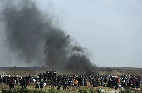 Thousands march on Gaza-Israel border in 5th Friday of protests