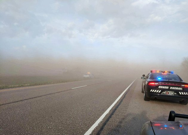 in-this-sunday-april-29-2018-photo-provided-by-the-nebraska-state-patrol-emergency-personnel-work-at-the-scene-of-a-multi-vehicle-crash-caused-by-blowing-dust-from-farm-fields-along-interstate-80-near-york-neb
