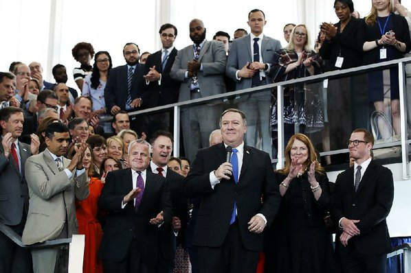 Mike Pompeo sworn-in as secretary of state at State Department