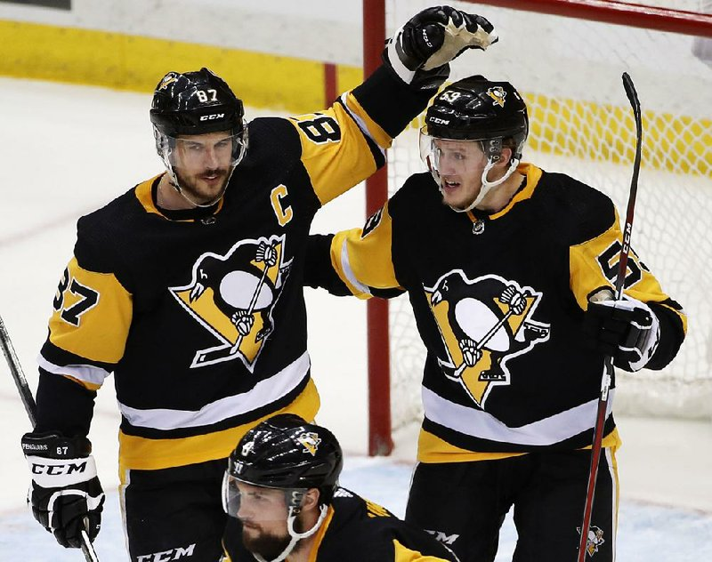 ... Sidney Crosby after scoring his second goal Thursday 00ade862aad6