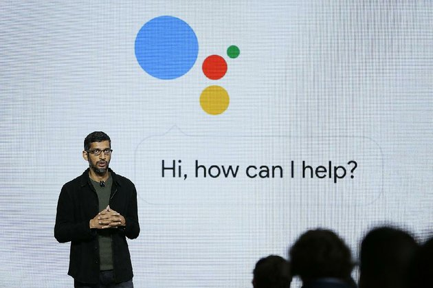 google-chief-executive-officer-sundar-pichai-talks-about-google-assistant-during-a-product-event-in-san-francisco-in-2016