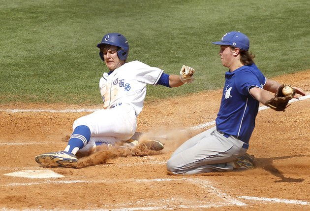 conways-cade-white-left-slides-into-home-plate-saturday-ahead-of-a-tag-from-rogers-high-pitcher-mason-griffin-during-the-class-a-state-semifinal-at-burns-park-in-north-little-rock