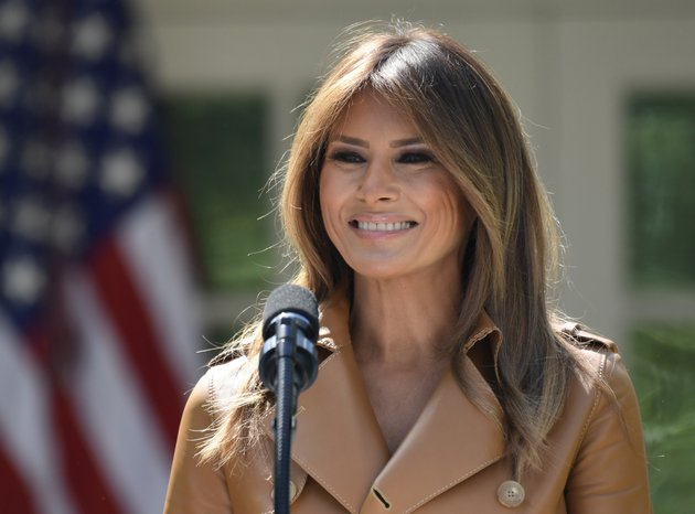 in-this-may-7-file-photo-first-lady-melania-trump-speaks-on-her-initiatives-during-an-event-in-the-rose-garden-of-the-white-house-in-washington