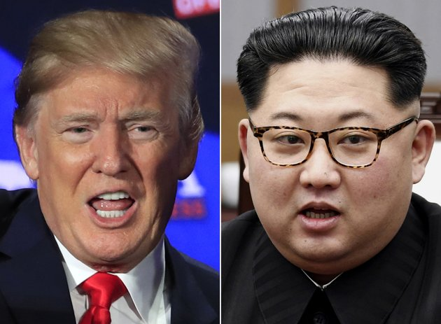 file-a-combination-of-two-file-photos-shows-us-president-donald-trump-left-in-cleveland-ohio-may-5-2018-and-north-korean-leader-kim-jong-un-right-in-panmunjom-south-korea-april-27-2018-the-june-12-meeting-between-tough-talking-president-donald-trump-and-north-korean-leader-kim-jong-un-a-brash-young-ruler-with-a-nuclear-arsenal-brings-a-bombastic-set-of-personalities-to-the-small-island-nation-which-has-hosted-plenty-of-important-meetings-but-nothing-as-big-as-this-ap-photomanuel-balce-ceneta-korea-summit-press-pool-via-ap-file