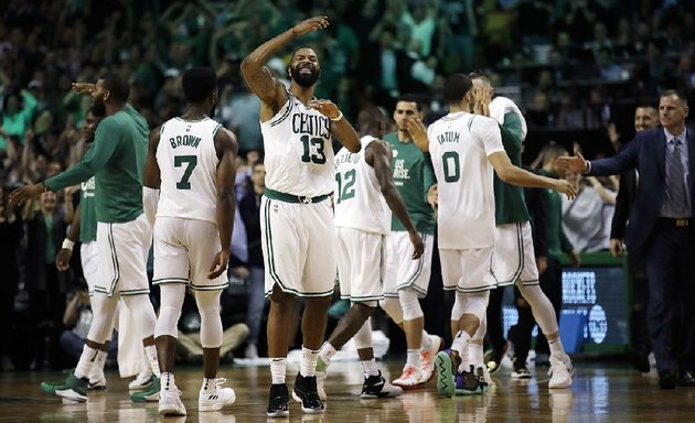 boston-celtics-forward-marcus-morris-13-celebrates-in-the-closing-minutes-of-the-celtics-107-94-victory-over-the-cleveland-cavaliers-in-game-2-of-the-nba-eastern-conference-finals-tuesday-night-in-boston-the-celtics-lead-the-series-2-0