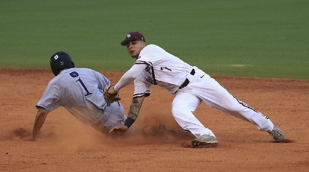 central-arkansas-base-runner-tj-black-1-slides-past-the-tag-attempt-of-ualr-shortstop-matt-merino-to-steal-second-base-during-tuesday-nights-game-at-dickey-stephens-park-in-north-little-rock-uca-won-6-4