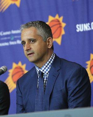 Phoenix Suns head coach Igor Kokoskov speaks to the media Monday, May 14, 2018, in Phoenix.