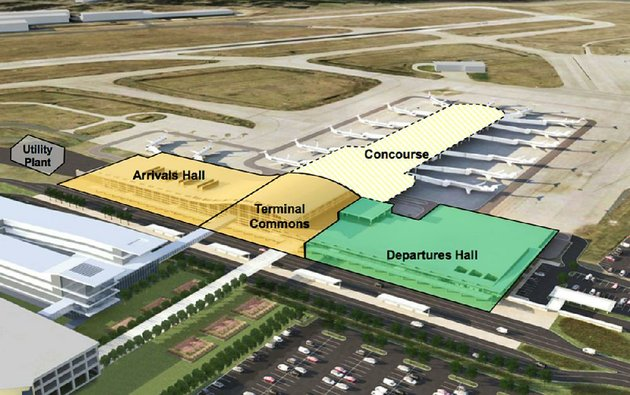 an-artists-rendering-shows-the-planned-improvements-at-little-rocks-bill-and-hillary-clinton-national-airportadams-field-a-450-million-project-that-would-reconfigure-the-passenger-terminal-and-replace-aging-facilities