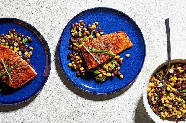 seared-salmon-with-corn-black-bean-salad
