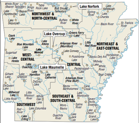 a-map-showing-the-location-of-arkansas-fishing-spots
