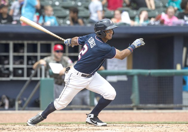 naturals-third-baseman-jecksson-flores-hits-a-line-drive-wednesday-against-the-travelers-at-arvest-ballpark-in-springdale