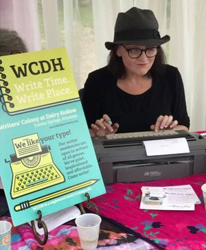 """Courtesy Photo Poets will wait at their typewriters, poised to create """"poetry on demand"""" at today's White Street Walk."""