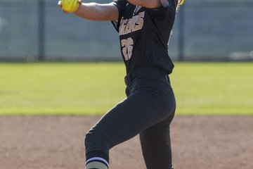 Cailey Cochran pitches ...