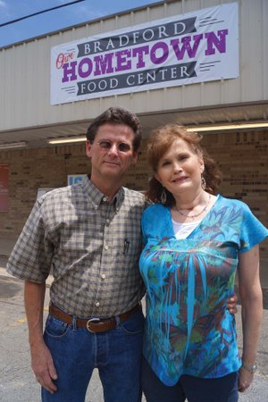 Scott and Leveta McCall bought Bill's Food Store in Bradford in April and renamed it Bradford Hometown Food Center. Leveta worked at the grocery store for 28 years before becoming a nurse, which she gave up to run the business. Former owner Bill Burruss owned the grocery store for 53 1/2 years, which first started as City Market in another location in town.