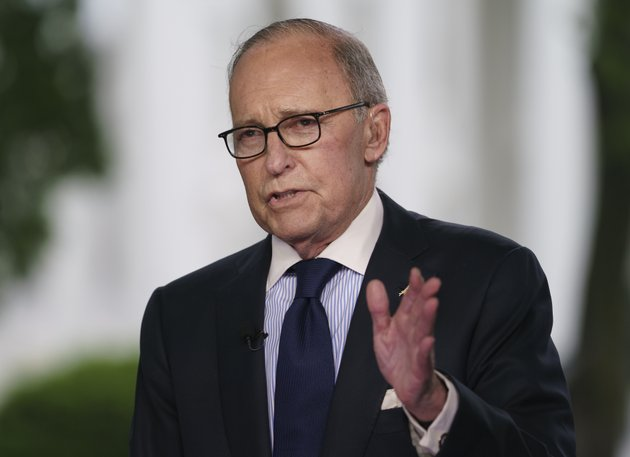 white-house-chief-economic-adviser-larry-kudlow-speaks-during-a-television-interview-outside-the-west-wing-of-the-white-house-in-washington-friday-may-18-2018-ap-photocarolyn-kaster