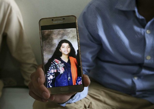 """She was a great soul,"" Aziz Sheikh said Saturday of his daughter Sabika. He shows her"