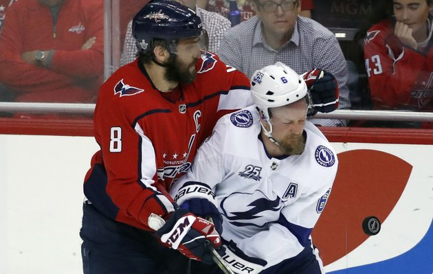 washington-capitals-left-wing-alex-ovechkin-8-from-russia-collides-with-tampa-bay-lightning-defenseman-anton-stralman-6-from-sweden-during-the-third-period-of-game-6-of-the-nhl-eastern-conference-finals-hockey-playoff-series-monday-may-21-2018-in-washington-the-capitals-won-3-0-ap-photoalex-brandon