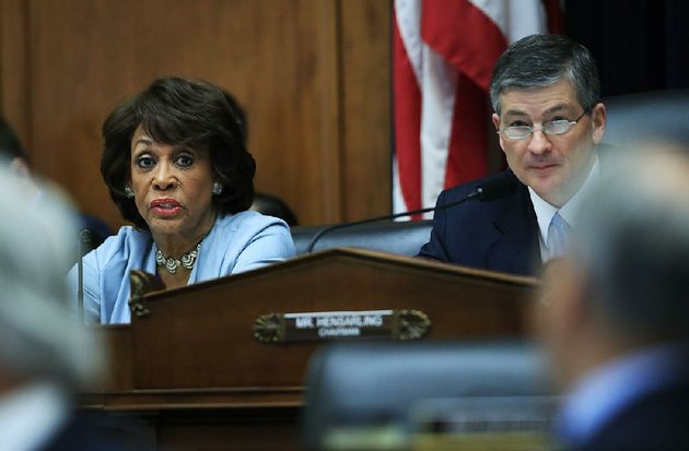 the-house-financial-services-committees-ranking-member-rep-maxine-waters-d-calif-left-with-committee-chairman-jeb-hensarling-r-texas-speaks-on-capitol-hill-in-washington-tuesday-may-2-2017-during-the-committees-hearing-on-overhauling-the-nations-financial-rules-ap-photomanuel-balce-ceneta