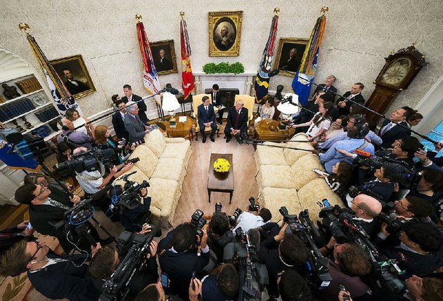 president-donald-trump-and-south-korean-president-moon-jae-in-speak-with-reporters-tuesday-at-the-white-house-there-are-certain-conditions-we-want-for-a-meeting-with-north-korea-trump-said
