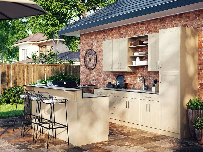Outing A Low Cost Embled Outdoor Kitchen