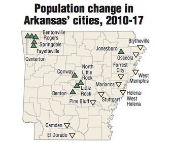 Arkansas\' towns fade as suburbs flourish; census data show metro ...