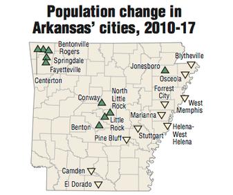 Arkansas\' towns fade as suburbs flourish; census data show metro ...