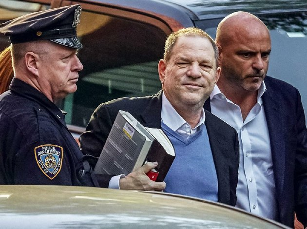 film-producer-harvey-weinstein-arrives-friday-at-a-police-station-in-new-york-to-surrender-to-authorities-to-face-charges-of-rape-and-sexual-abuse