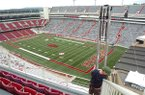 A turf field is shown at Donald W. Reynolds Razorback Stadium. The field, installed in 2009, will be replaced prior to the 2019 season.