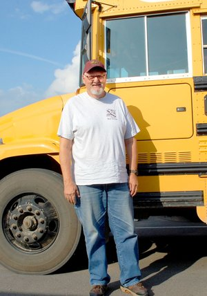 Janelle Jessen/Siloam Sunday Bus driver Lanny Terry is retiring after 34 years working for Siloam Springs Schools.