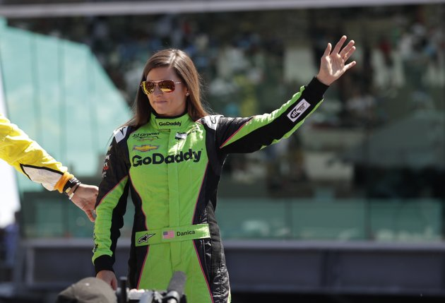 danica-patrick-waves-as-shes-introduced-before-the-start-of-the-indianapolis-500-auto-race-at-indianapolis-motor-speedway-in-indianapolis-sunday-may-27-2018-ap-photomichael-conroy