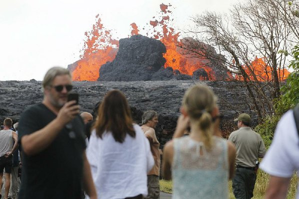 Hawaiian volcanic lava covers over 2000 acres of land