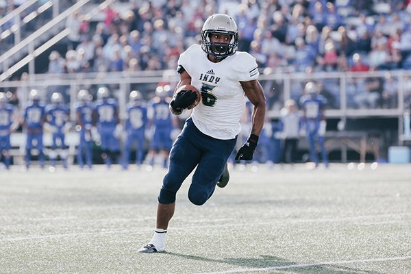 Independence Community College running back Rakeem Boyd carries the ball during the Midwest Classic Bowl game against Northeastern Oklahoma A&M on Saturday, Dec. 3, 2017, in Miami, Okla.