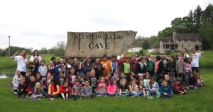 Photo Submitted Anderson Elementary second-grade students and teachers enjoyed a beautiful day filled with science concepts, history lessons and a picnic lunch on their trip to the Bluff Dwellers Cave.