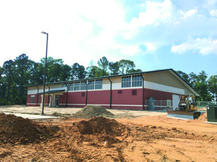 The nearly completed AMTC can be seen at SouthArk's east campus. Contributed photo.