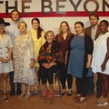 Alice Walton, Crystal Bridges founder and chairwoman (center), is joined by artists featured in The ...