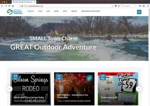 Image submitted A screenshot depicts the Discover Siloam Springs website, which will be officially launched on June 15.
