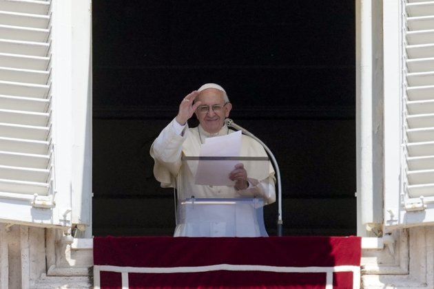 pope-francis-waves-to-the-crowd-as-he-recites-the-angelus-noon-prayer-from-the-window-of-his-studio-overlooking-st-peters-square-at-the-vatican-sunday-june-10-2018-ap-photoandrew-medichini