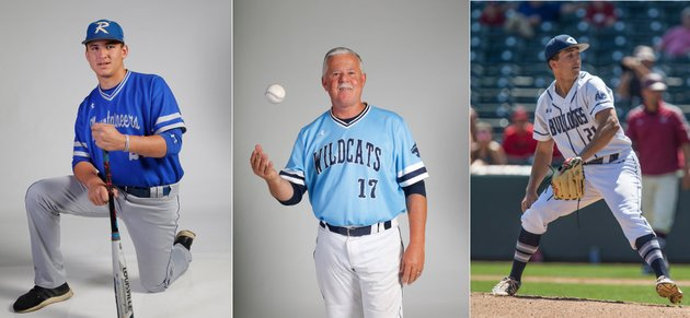 rogers-hayden-deldomridge-from-left-all-nwadg-newcomer-of-the-year-springdale-har-bers-ron-bradley-coach-of-the-year-and-greenwoods-connor-noland-player-of-the-year