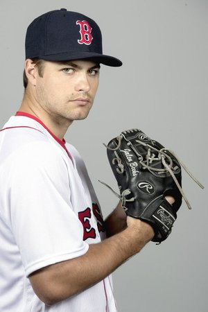 This is a 2018 photo of Jalen Beeks of the Boston Red Sox baseball team. This image reflects the 2018 active roster as of Feb. 20, 2018, when this image was taken. (AP Photo/John Minchillo)
