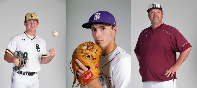 northwest-arkansas-democrat-gazette-photos-walker-william-from-left-of-shiloh-christian-2018-all-nwadg-newcomer-of-the-year-brandon-ulmer-of-booneville-player-of-the-year-and-greg-harris-of-huntsville-coach-of-the-year