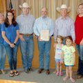 Members of the Siloam Springs Riding Club met at City Hall on Monday morning as Mayor John Mark Turn...