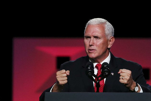 vice-president-mike-pence-addresses-the-southern-baptist-convention-on-wednesday-in-dallas-in-remarks-that-at-times-sounded-like-a-campaign-speech-im-a-christian-a-conservative-and-a-republican-in-that-order-pence-told-the-gathering