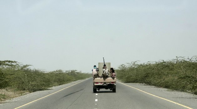 file-in-this-feb-12-2018-file-photo-saudi-backed-forces-part-of-ahmed-al-kawkabanis-southern-resistance-unit-in-hodeida-ride-in-their-vehicle-in-hodeida-yemen-the-saudi-led-coalition-backing-yemens-exiled-government-began-an-assault-wednesday-june-13-2018-on-the-port-city-of-hodeida-the-main-entry-point-for-food-in-a-country-already-teetering-on-the-brink-of-famineap-photonariman-el-mofty-file